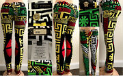 Versace Greek Puzzle Print Jeans Fall 2015 Rare Rrp 1350 Nwt It26