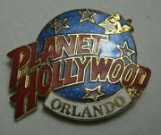 Planet Hollywood Orlando Fl Classic Globe Red White And Light Blue Lapel Pin 1995