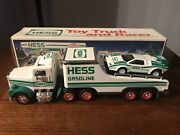 1991 Hess Toy Truck And Racer Formula One Style Race Car New In Box
