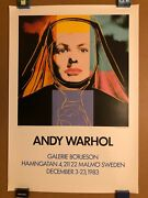Andy Warhol Ingrid Bergman The Nun 1983 Galerie Borjeson Sweden Lithograph And Coa
