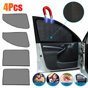 4x Magnetic Car Side Front Rear Window Sun Shade Cover Mesh Shield Uv Protection