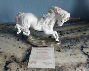 1989 Love's Delight Porcelain Unicorn Figurine By Princeton Gallery New In Box