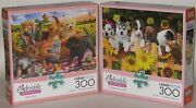 Buffalo Set Of 2 300 Large Piece Puzzles Picnic Pals And The Gangand039s All Here New