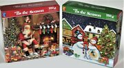 Buffalo Set Of 2 300 Large Piece Puzzles Picnic Pals And The Gang's All Here New