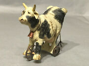 American Chestnut Coyneand039s And Company Am1055 Cow Pull Toy In Box