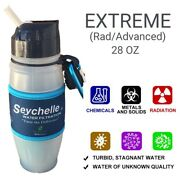 Lot Of 2 New Seychelle 28oz Radiological Filter Water Bottle Camping Emergency