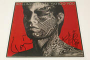 Charlie Watts Ronnie Wood Signed Autograph Album Flat Rolling Stones Tattoo You
