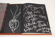Dale Chihuly Signed Autograph Form From Fire Book W/ Great Content Original Art