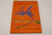 Dale Chihuly Signed Autograph W/ Paint On Book Cover - Form From Fire Rare