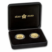 2020 Gb 2-coin Gold 400th Anniversary Of The Mayflower Proof Set - Sku224868