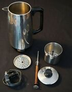 Vintage Proctor Silex 12 Cup Percolator Coffee Maker Pot Model P112 -parts Only