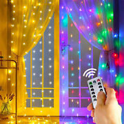 Led Curtain Fairy Hanging String Light Wedding Party Usb Powered Wall Decor Lamp