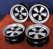 Porsche 911 Carrera Rs Genuine Fuchs 7 And 8 X 15 High-lighted Wheels With Patina