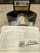 Commemorative 14kt Gold Plated Slinky Toy, Stamp And Display Stand 1999 Collectibl