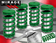 For 88-91 Honda Civic Crx S Si Hatch Green Spring Adj. Coilover Scale Sleeves