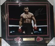 Mike Tyson Signed Photo Auto 16x20 Framed And Matted Psa Dna Coa Iron Mike