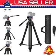 72and039and039 Professional Heavy Duty Panorama Video Tripod Fluid Hydraulic Head For Dslr