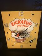 Vintage Kicakpoo Joy Juice Clock Original Lil Abner Dogpatch Cola Soda Gas Oil