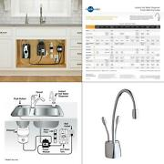 Indulge Contemporary 2-handle Instant Hot And Cold Water Dispenser Faucet In C