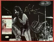 Psa/dna And Jsa 2 Pair Of Alice Cooper Signed 11x 14 Black And White Photos
