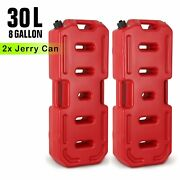 2x 30l 8gallon Fuel Gas Storage Tank Can Container For Jeep Ute Atv Truck Motor