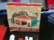 Lot Of Plasticville Usa 1950's Kits And Accessories. Fire House, Freight, Ranch