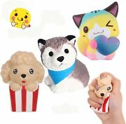 Anboor 3 Pcs Squishies Dog Cat Kawaii Scented Soft Slow Rising Animal Squishi...