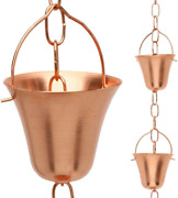 Rain Chain Decorative Chimes And Cups Replace Gutter Downspout And Divert Water Away