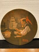 3 Norman Rockwell Decorative Plates - Ship Builder, Mother's Day, Music Maker