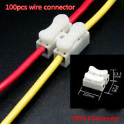 Electrical Cable 2pin Connectors Quick Splice Lock Wire Terminals Self Locking