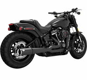 Vance And Hines Pro Pipe 4.5 Exhaust Black For 2018-2021 Harley Davidson Softail