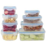 16 Pcs Plastic Food Storage Kitchen Containers Set With Air Tight Locking Lids