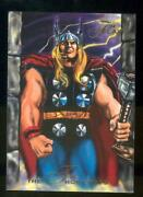 1994 Flair Marvel Annual Trading Card 128 The Thor Corps Nm-mt High End Break