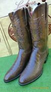 New Lucchese Classics Inlay American Alligator Rare Exotic Western Boot 10.5 D