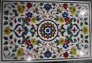 24 X 36 Inches Dining Table Top Marble Coffee Table Inlay With Heritage Crafts