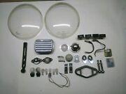 30 Pieces Vntg Vw Beetle Parts Ashtray/lights/headlight Covers/dash Lights +more