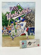 1988 World Series Program And Ticket Stub Game 1 A's Dodgers Kirk Gibson Home Run