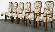 Auffray Furniture Set Of 6 Louis Xiv Style Dining Chairs, 1980s