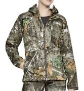 Under Armour Wmn's Brow Tine Hunting Hoodie Realtree Edge 1316696-991 Size Small