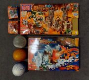 2004 Mega Bloks Fire And Ice Dragons Lot - 9889, 9887, 9856, 9857, 9874, 9875 And