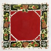 Certified Int Susan Winget Red Winter Christmas 9 Square Ceramic Platter