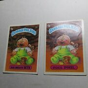 Garbage Pail Kids 1985 Lot Of 2 70a Bad Breath Seth And 70b Foul Phil. Nice