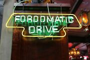 1950s Ford Dealership Fordomatic Window Advertising Neon Sign