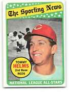 1969 Topps 418 Tommy Helms Nm Near Mint Reds As Id233906
