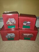 The Sarah Plain And Tall Lot Of 4 Holiday Christmas Village Houses 1994