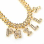 Personalized Necklace Letter Pendant Statement S-link Cuban Ankle Jewelry Choker