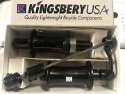 Vintage Pair Nos Kingsbery Front And Rear Bicycle Hubs 28-32 130-135mm