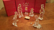 Waterford Crystal Millennium Nativity Set 7 Pc Set Holy Family Angel Kings Gold
