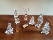 Waterford Crystal Gold Millennium Nativity Set Holy Family Angel Kings 7 Pc Mint