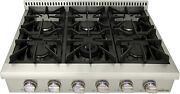 Thorkitchen Pro-style Gas Rangetop With 6 Sealed Burners 36 - Inch Stainless